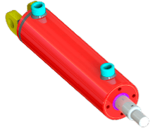 Red Rhino Heavy Duty Hydraulic Cylinder